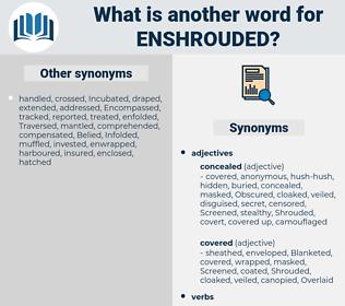 enshrouded, synonym enshrouded, another word for enshrouded, words like enshrouded, thesaurus enshrouded