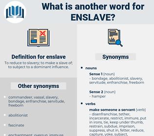 enslave, synonym enslave, another word for enslave, words like enslave, thesaurus enslave