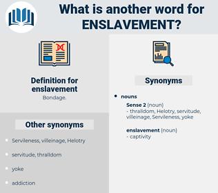 enslavement, synonym enslavement, another word for enslavement, words like enslavement, thesaurus enslavement
