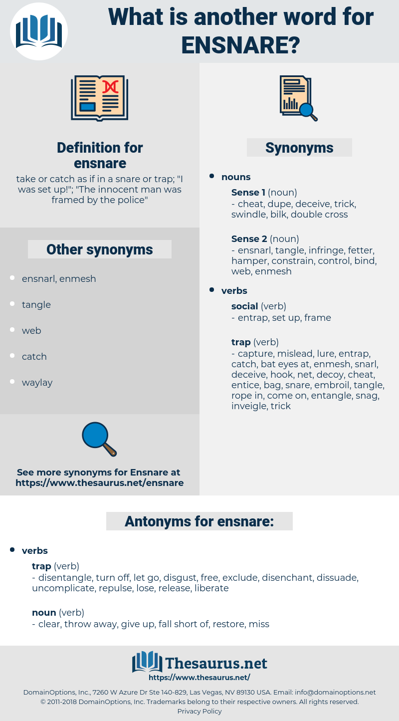ensnare, synonym ensnare, another word for ensnare, words like ensnare, thesaurus ensnare