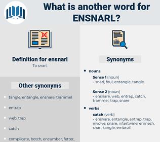 ensnarl, synonym ensnarl, another word for ensnarl, words like ensnarl, thesaurus ensnarl