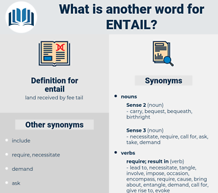 entail, synonym entail, another word for entail, words like entail, thesaurus entail
