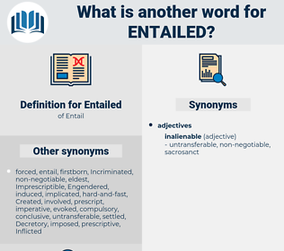 Entailed, synonym Entailed, another word for Entailed, words like Entailed, thesaurus Entailed