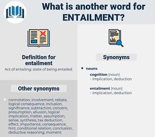 entailment, synonym entailment, another word for entailment, words like entailment, thesaurus entailment