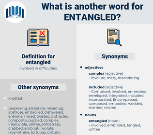 entangled, synonym entangled, another word for entangled, words like entangled, thesaurus entangled