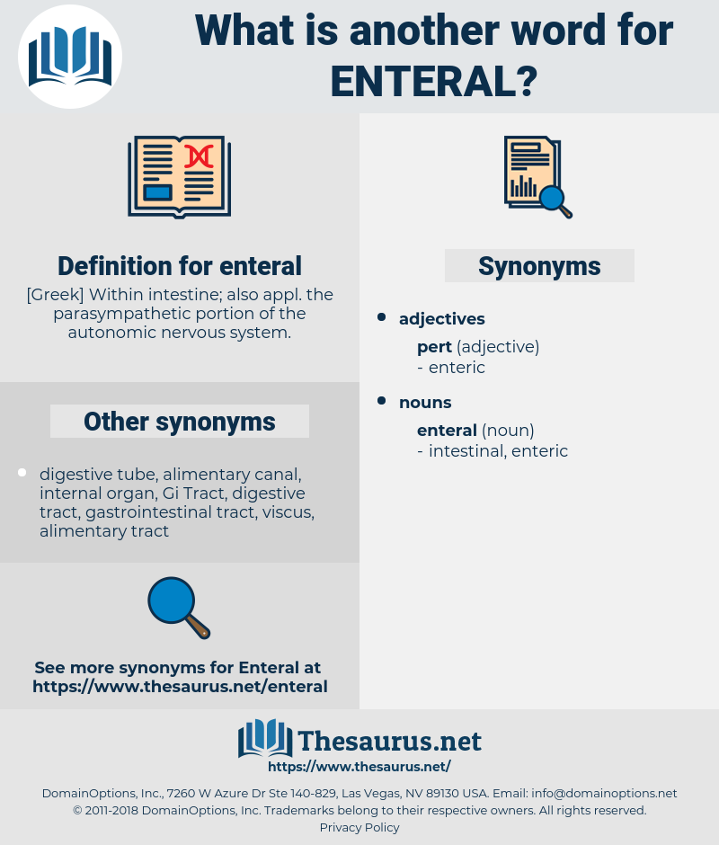 enteral, synonym enteral, another word for enteral, words like enteral, thesaurus enteral