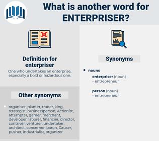 enterpriser, synonym enterpriser, another word for enterpriser, words like enterpriser, thesaurus enterpriser