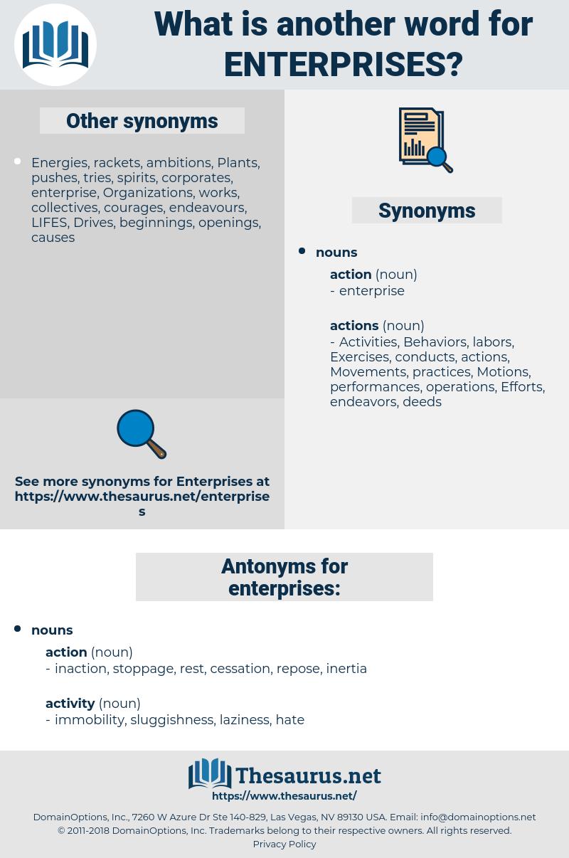 enterprises, synonym enterprises, another word for enterprises, words like enterprises, thesaurus enterprises