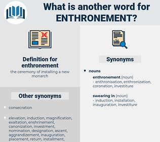 enthronement, synonym enthronement, another word for enthronement, words like enthronement, thesaurus enthronement