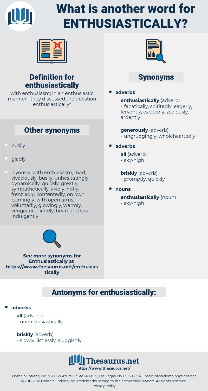 enthusiastically, synonym enthusiastically, another word for enthusiastically, words like enthusiastically, thesaurus enthusiastically