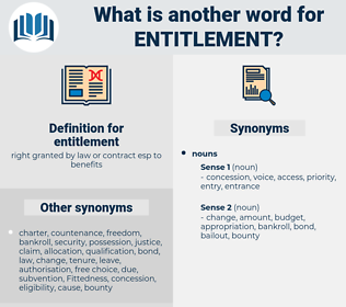 entitlement, synonym entitlement, another word for entitlement, words like entitlement, thesaurus entitlement