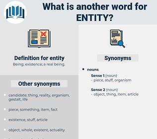 entity, synonym entity, another word for entity, words like entity, thesaurus entity