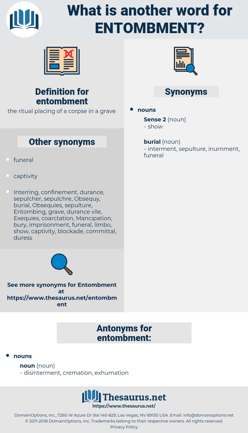 entombment, synonym entombment, another word for entombment, words like entombment, thesaurus entombment