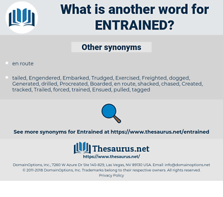 entrained, synonym entrained, another word for entrained, words like entrained, thesaurus entrained