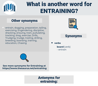 entraining, synonym entraining, another word for entraining, words like entraining, thesaurus entraining