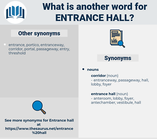 entrance hall, synonym entrance hall, another word for entrance hall, words like entrance hall, thesaurus entrance hall