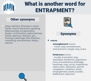 entrapment, synonym entrapment, another word for entrapment, words like entrapment, thesaurus entrapment