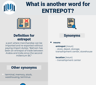 entrepot, synonym entrepot, another word for entrepot, words like entrepot, thesaurus entrepot