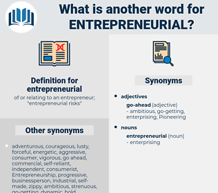 entrepreneurial, synonym entrepreneurial, another word for entrepreneurial, words like entrepreneurial, thesaurus entrepreneurial