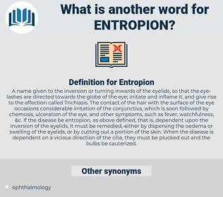 Entropion, synonym Entropion, another word for Entropion, words like Entropion, thesaurus Entropion