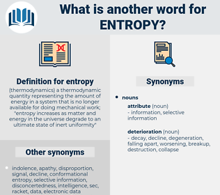 entropy, synonym entropy, another word for entropy, words like entropy, thesaurus entropy