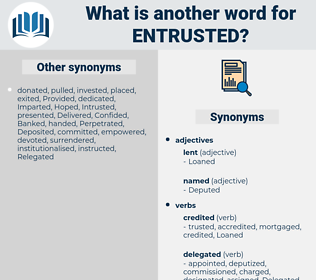 entrusted, synonym entrusted, another word for entrusted, words like entrusted, thesaurus entrusted