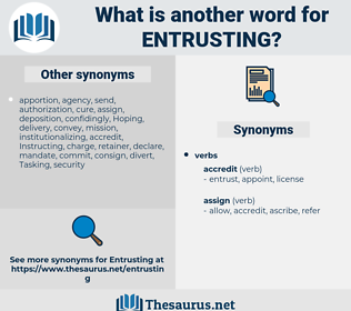 entrusting, synonym entrusting, another word for entrusting, words like entrusting, thesaurus entrusting