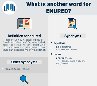 enured, synonym enured, another word for enured, words like enured, thesaurus enured