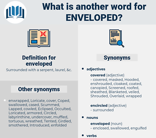 enveloped, synonym enveloped, another word for enveloped, words like enveloped, thesaurus enveloped