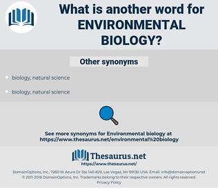 environmental biology, synonym environmental biology, another word for environmental biology, words like environmental biology, thesaurus environmental biology