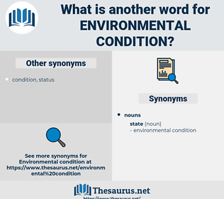 environmental condition, synonym environmental condition, another word for environmental condition, words like environmental condition, thesaurus environmental condition