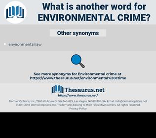 environmental crime, synonym environmental crime, another word for environmental crime, words like environmental crime, thesaurus environmental crime
