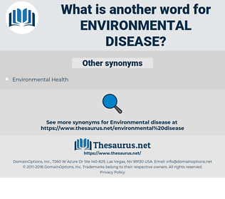 environmental disease, synonym environmental disease, another word for environmental disease, words like environmental disease, thesaurus environmental disease