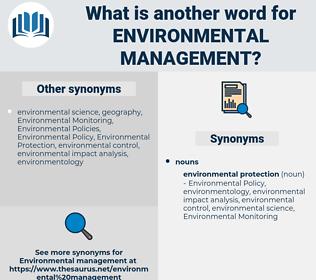 environmental management, synonym environmental management, another word for environmental management, words like environmental management, thesaurus environmental management