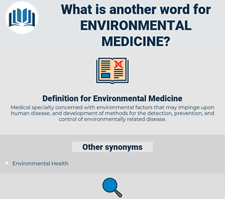 Environmental Medicine, synonym Environmental Medicine, another word for Environmental Medicine, words like Environmental Medicine, thesaurus Environmental Medicine