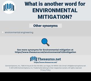 environmental mitigation, synonym environmental mitigation, another word for environmental mitigation, words like environmental mitigation, thesaurus environmental mitigation