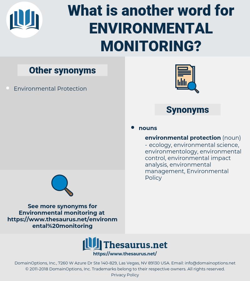 Environmental Monitoring, synonym Environmental Monitoring, another word for Environmental Monitoring, words like Environmental Monitoring, thesaurus Environmental Monitoring