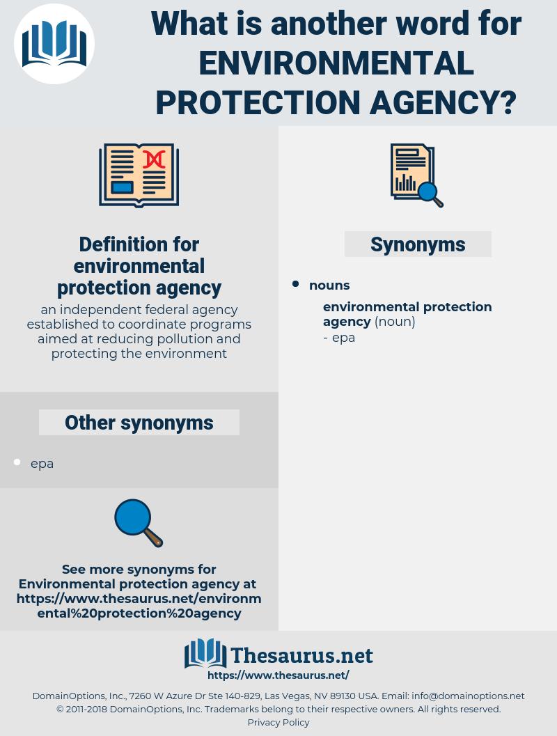 environmental protection agency, synonym environmental protection agency, another word for environmental protection agency, words like environmental protection agency, thesaurus environmental protection agency