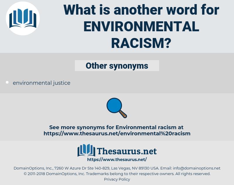 environmental racism, synonym environmental racism, another word for environmental racism, words like environmental racism, thesaurus environmental racism