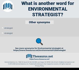 environmental strategist, synonym environmental strategist, another word for environmental strategist, words like environmental strategist, thesaurus environmental strategist