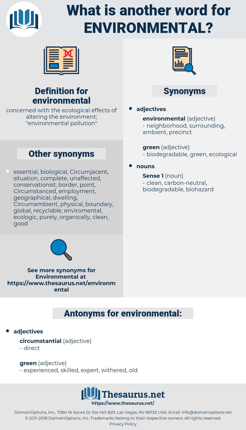 environmental, synonym environmental, another word for environmental, words like environmental, thesaurus environmental