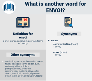 envoi, synonym envoi, another word for envoi, words like envoi, thesaurus envoi