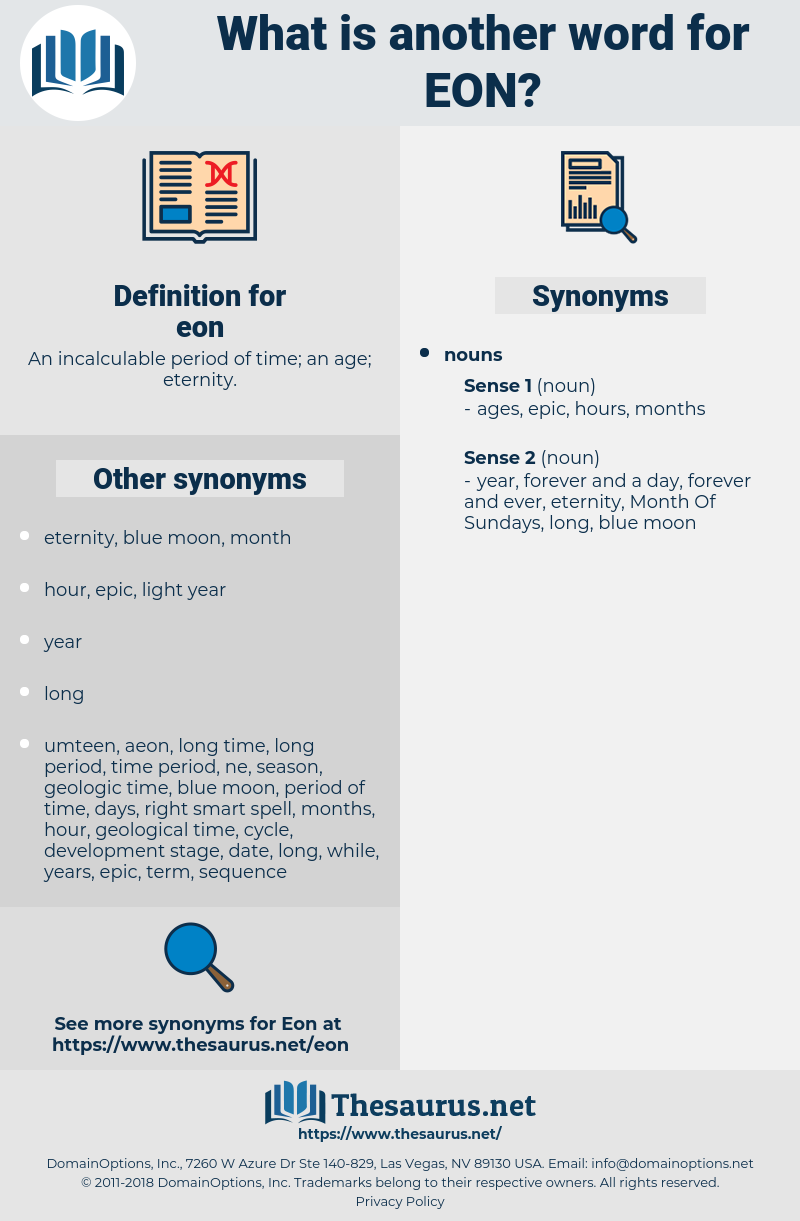 eon, synonym eon, another word for eon, words like eon, thesaurus eon