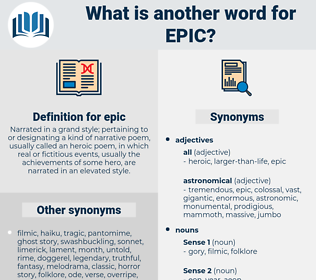 epic, synonym epic, another word for epic, words like epic, thesaurus epic