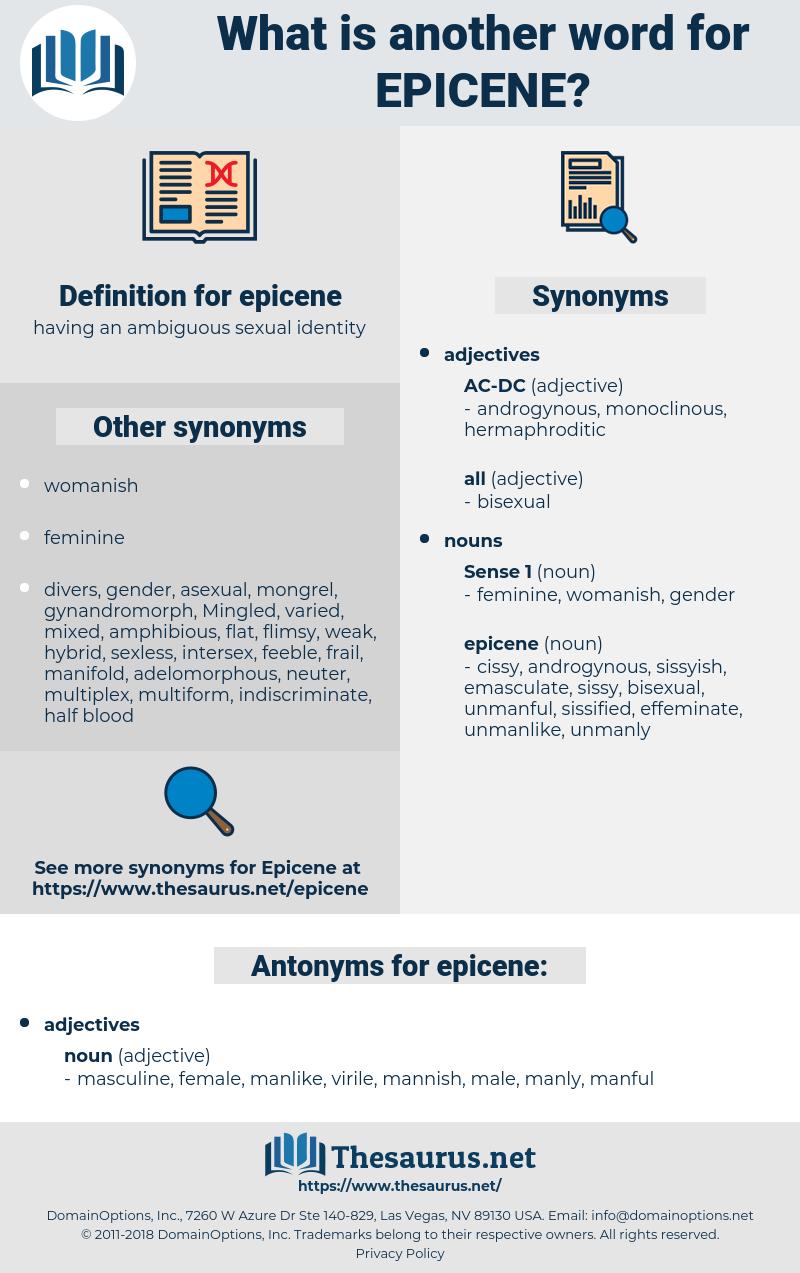 epicene, synonym epicene, another word for epicene, words like epicene, thesaurus epicene