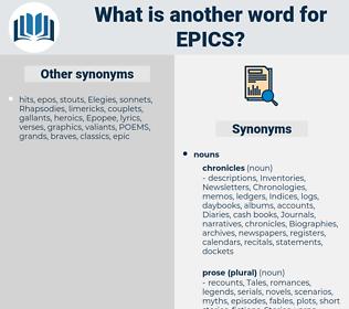 epics, synonym epics, another word for epics, words like epics, thesaurus epics