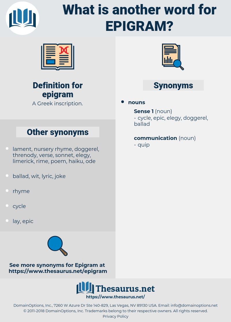 epigram, synonym epigram, another word for epigram, words like epigram, thesaurus epigram