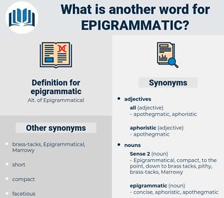 epigrammatic, synonym epigrammatic, another word for epigrammatic, words like epigrammatic, thesaurus epigrammatic
