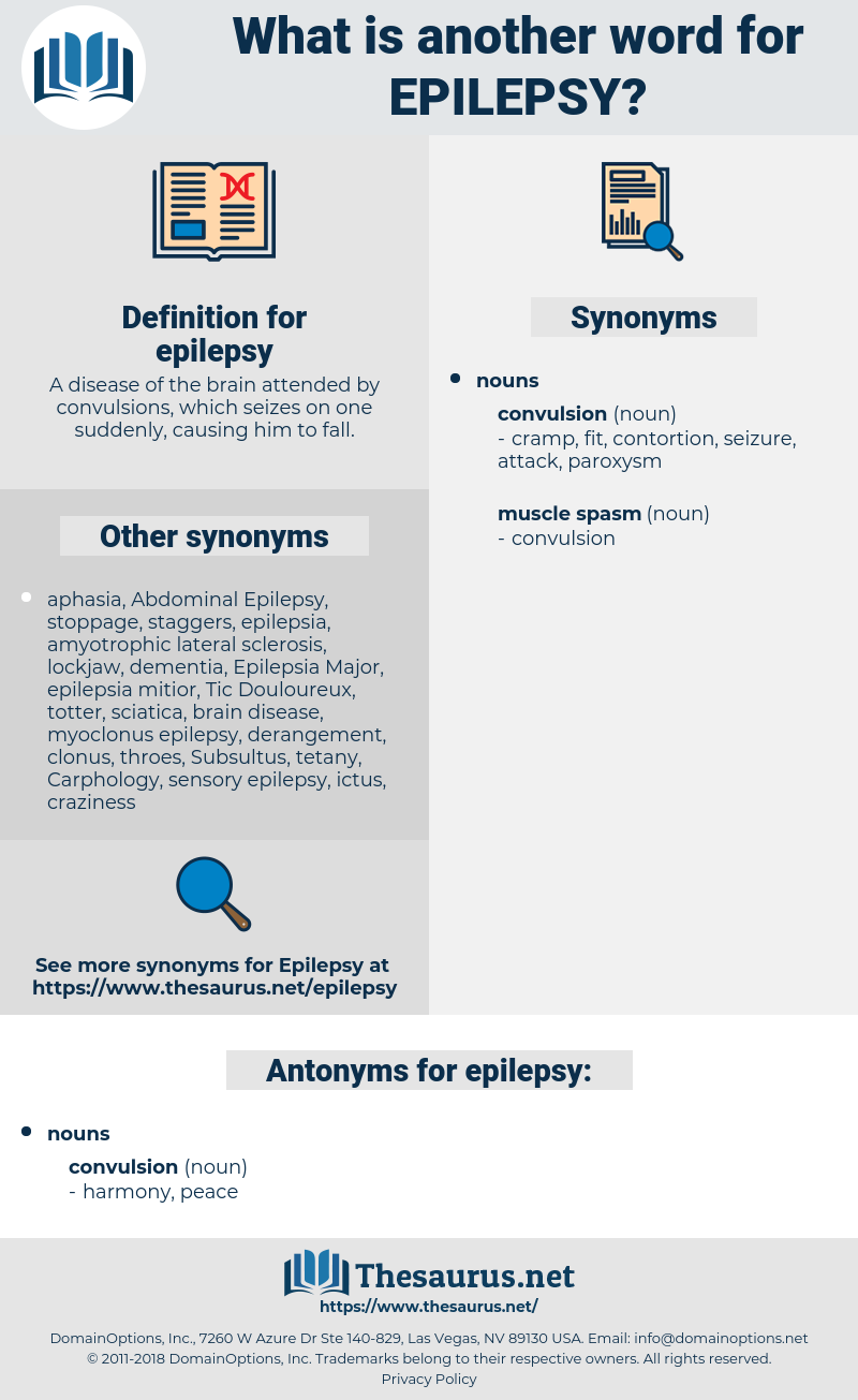 epilepsy, synonym epilepsy, another word for epilepsy, words like epilepsy, thesaurus epilepsy