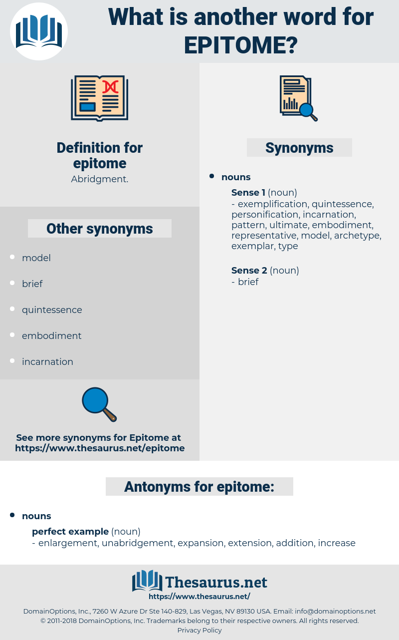 epitome, synonym epitome, another word for epitome, words like epitome, thesaurus epitome